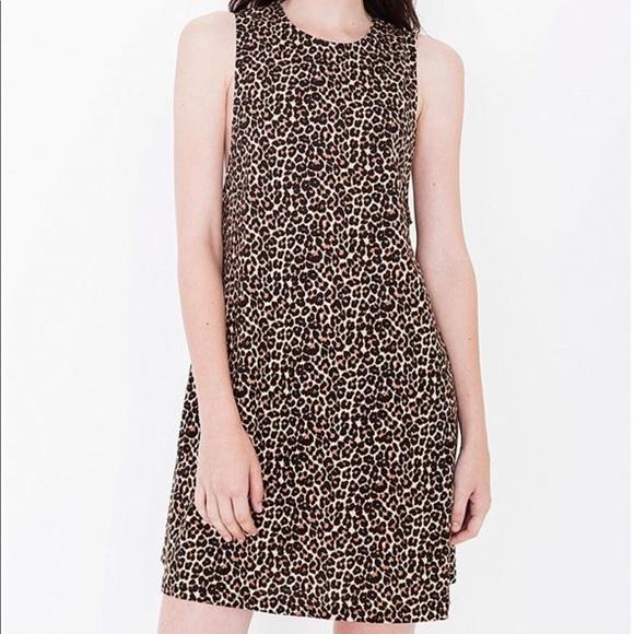 1fd46a443f0d41 American Apparel Dresses   Skirts - Classic AA Leopard Print Tee Dress